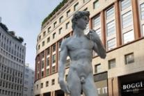 David di Michelangelo in San Babila