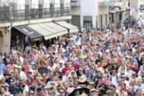 Protesta dei tassisti a Lisbona