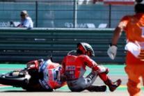 Jorge Lorenzo a terra nella gara di Moto GP ad Aragon