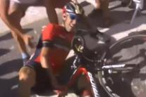 Tour: Nibali out after hitting spectator