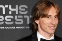 Luka Modric durante i FIFA Football Awards a Londra