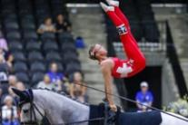 Nadja Buttiker al Vaulting ai World Equestrian Games