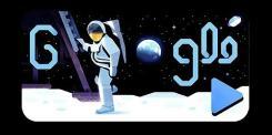 Google dedica un doodle al 50° anniversario dell'allunaggio: il video