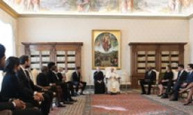 Pope meets NBA stars to say no to racism