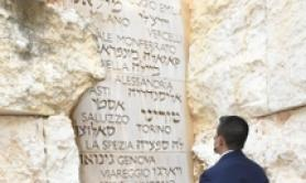 God save people from pandemic-Di Maio at Wailing Wall