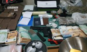 Noicattaro, pusher in trasferta per acquistare droga: 4 arresti, sequestrati 13kg di sostanze