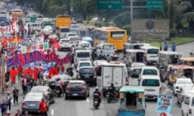 Protesta contro presidente Duterte a Quezon City, Filippine
