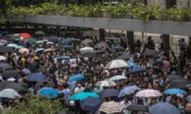Marcia di protesta contro il governo ad Hong Kong, Cina