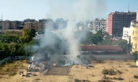 Bari, incendio nel Parco Gargasole