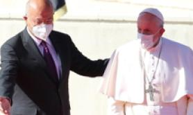 May arms fall silent says pope in Iraq