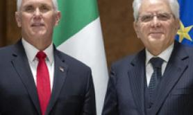 Thanks for your leadership Pence tells Mattarella