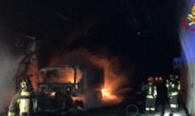32 suffer from fumes after motorway tunnel truck blaze