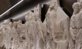 Racconigi, restaurato fregio Palagiano
