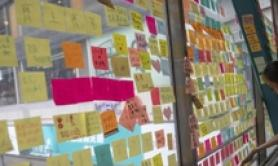 Hong Kong, eliminati post-it libertarie