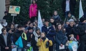 Greta Thunberg leads Fridays For Future rally in Turin