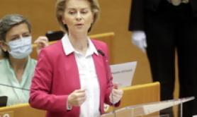 Conte, von der Leyen confer on Recovery Fund