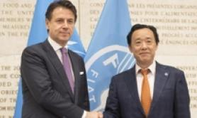 Conte, Qu call for action on FAO's World Food Day