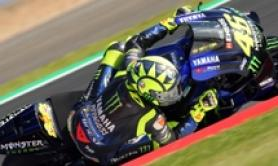 Moto:Gb,Honda Marquez in pole, Rossi 2/o