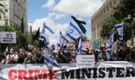 Protesta in Israele contro Benjamin Netanyahu