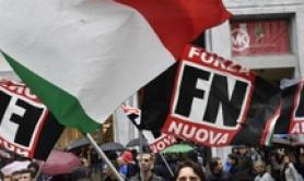 Leftist-police clashes for FN rally in Bologna