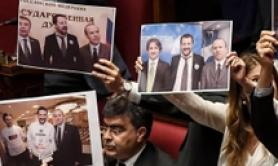 PD MPs hold protest with Salvini-Savoini photos