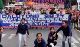 Manifestazione vicino ambasciata Usa a Manila, Filippine