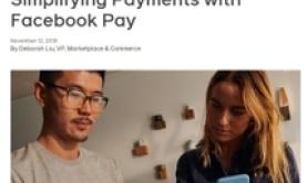 Facebook in pagamenti digitali con Pay