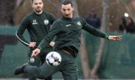 Soccer: Ibrahimovic picks up calf knock in training (7)