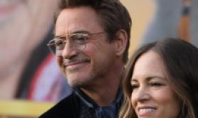 Robert Downey jr e signora alla prima Usa di 'Doolittle'