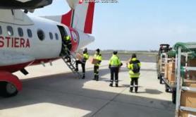 Coronavirus, la Guardia Costiera porta aiuti nel Sud Italia