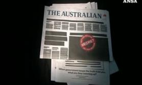 Protesta choc in Australia, censurata la prima pagina dei quotidiani
