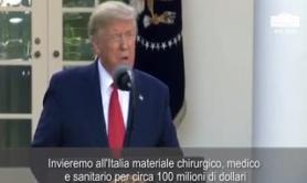 "Coronavirus, Trump: ""All'Italia 100 milioni di dollari in aiuti sanitari"""