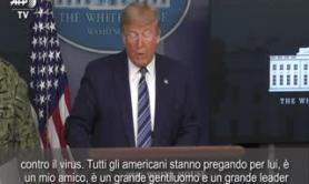 "Coronavirus, Trump: ""Fiducioso che Boris Johnson guarisca presto"""