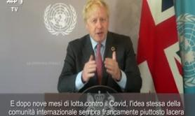 "Covid, Johnson all'Onu: ""Unita' contro la pandemia"""