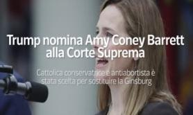 Usa, Amy Coney Barrett nominata alla Corte suprema