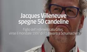 Jacques Villeneuve spegne 50 candeline