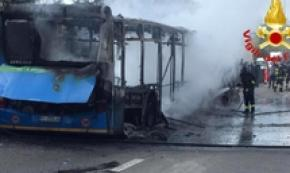 Terror for kids after hijacker sets bus alight