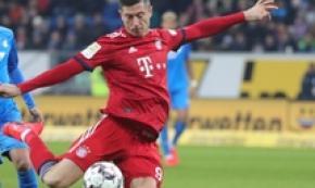 Bundesliga: Lewandowski in azione durante Bayern-Hoffenheim