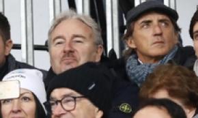Calcio: Serie A, Roberto Mancini alla partita Spal-Bologna
