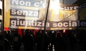 Corteo contro Dl Sicurezza, no incidenti