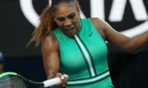 Serena Williams durante gli Australian Open