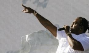 Rapper Pusha T al festival Coachella Valley Music,California