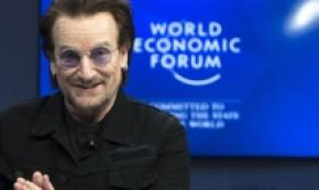 Arrivato a Davos il cantante Bono per World Economic Forum