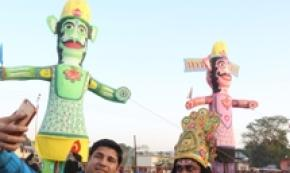 Il Dussehra festival a Dharamsala, in India