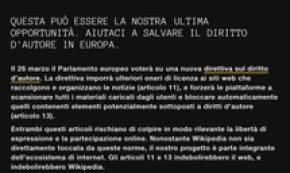 Italy Wikipedia page shut ahead of EP copyright vote