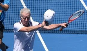 John McEnroe al Legends Tournament degli Australian Open