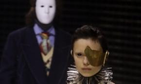 Gucci puts masks on display at runway show