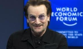 Bono Vox tra gli invitati al World Economic Forum di Davos