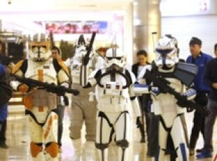 Fans di Star Wars in un cinema di Guadalajara in Messico