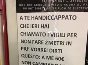 Insulta disabile, pm Monza indaga